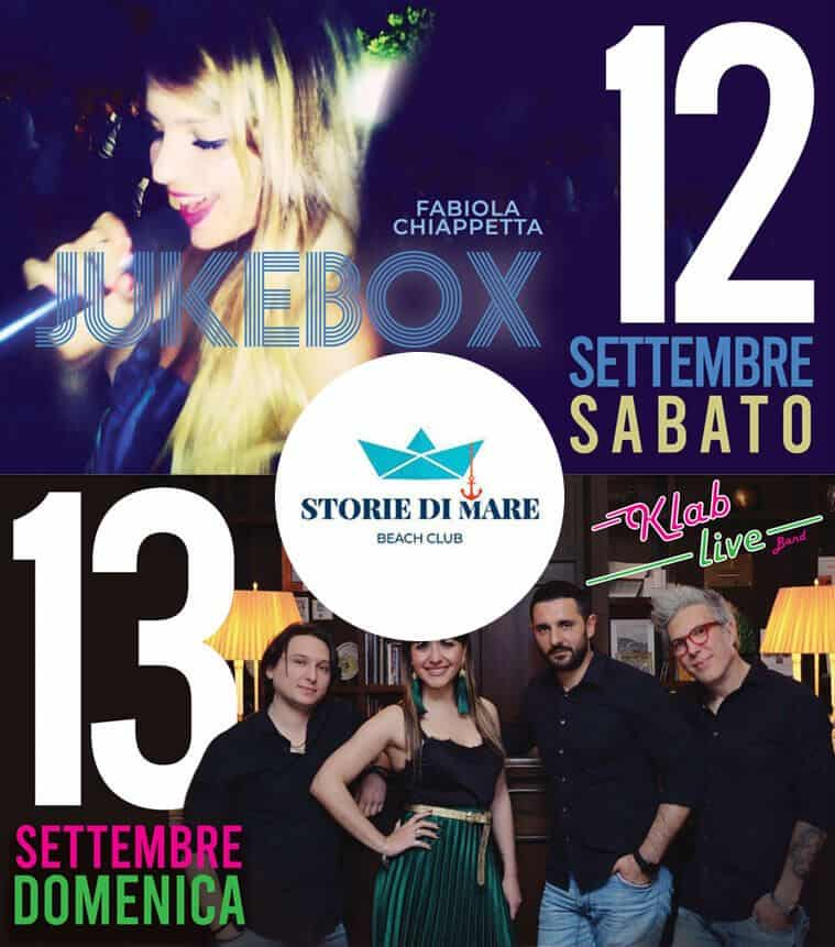 Eventi Sibari Musica dal vivo 12 e 13 Settembre 2020
