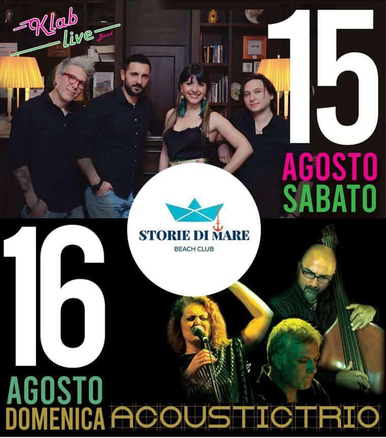 Eventi Sibari Musica dal vivo 15 e 16 Agosto 2020
