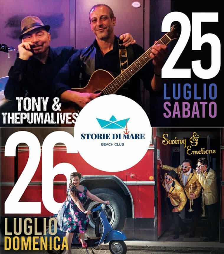 Eventi Sibari Musica dal vivo 25 e 26 Luglio 2020