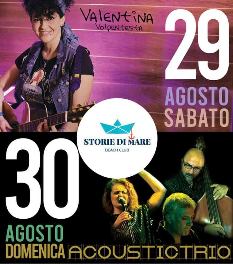 Eventi Sibari Musica dal vivo 29 e 30 Agosto 2020